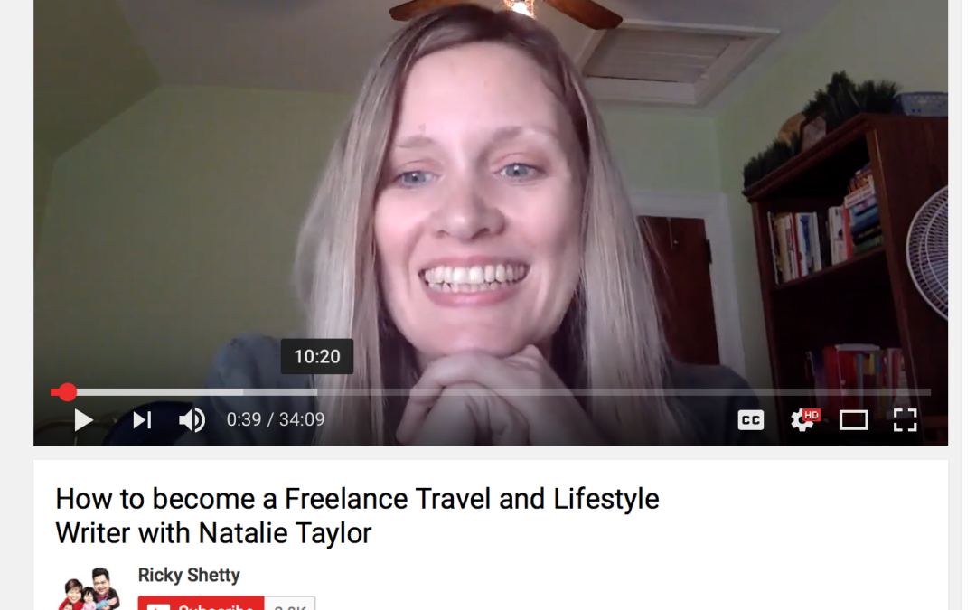 Ricky Shetty Podcast: How to Become a Freelance Travel and Lifestyle Writer
